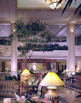 View of the Omni Severin Hotel in Indianapolis